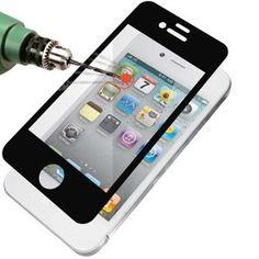 ArktisPRO iPhone Echtglas Display-Schutz für iPhone 4 / 4S - Weiß