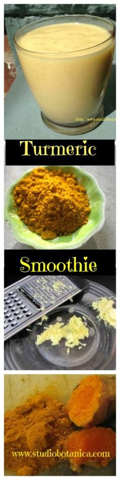 Sunshine in a glass ~ Turmeric Smoothie with Mango Ginger - Studio Botanica