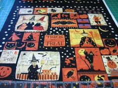 2.6 Yards Quilt Cotton Fabric - Clothworks Witchful Thinking Halloween Panel #Clothworks