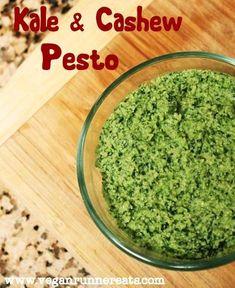 Easy Vegan Kale & Cashew Pesto Recipe | www.veganrunnereats.com