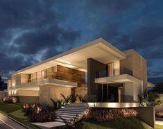 home fachadas [New] The 10 Best Home De - Modern Architecture House, Residential Architecture, Architecture Design, Modern House Facades, House Front Design, Modern House Design, Modern Mansion, Dream House Exterior, Villa Design
