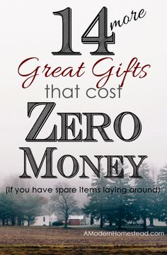 ZERO money gifts you can make when you're broke! Amazing ideas, these are all re-purposed items!