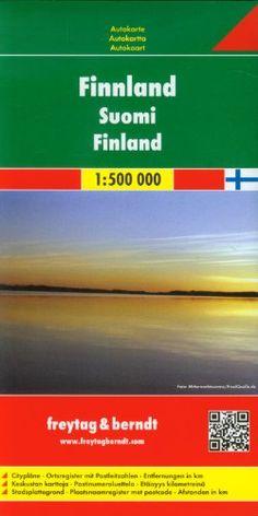 Finlandia, mapa de carreteras. Escala 1:500.000. Freytag & Berndt. (Auto karte)