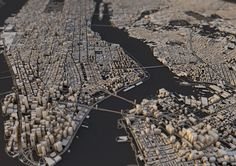 Posters rendered in Cinema 4d from OpenStreetMap data byLuis Dilger.via Jan Willem Tulp