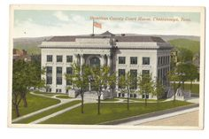 Chattanooga, Tennessee, Hamilton County Court House, Old Postcard