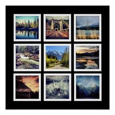 Shop Deluxe 9 Photograph Grid Collage Canvas Print created by PartyHearty. Personalize it with photos & text or purchase as is! Posters Diy, Custom Posters, Canvas Display, Cool Instagram, Poster Photography, Square Canvas, Square Photos, Custom Canvas, Photo Displays