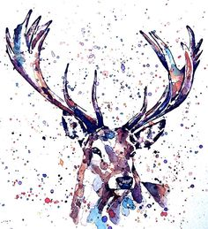 This print is from an Original painting by Eddie Kagimu MATERIALS: quality heavy-weight cotton mould printing paper The Print is signed by the Artist Animal Art Prints, Animal Paintings, Watercolor Sketch, Watercolor Print, Deer Art, Moose Art, Drawing Projects, Love Pictures, Art Inspo