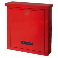 Poštovní schránka BRIGHTON červená pozinkovaná