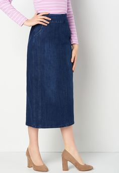 c627babac972a Pull-on Pieced Denim Skirt - CBK Web Store