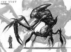 """Sketch of creature from """"The Mist"""" Movie"""
