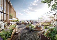 Arkitema projeta edifício de escritórios para a prefeitura de Aarhus,Vista externa.  Cortesia de Arkitema Architects