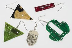 "Upcycled Ear Rings ""Leiterplatte"" (Conductor Board) by TRASH DESIGN 