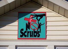 Sign for the No Scrubs house in Oxford, Ohio. Ohio House, Miami University, House Names, Scrubs, Oxford, Future, Signs, Future Tense, Shop Signs