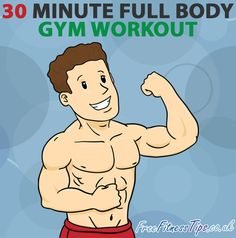 Got a busy week ahead? Then work your entire body in half an hour with this 30 minute full body gym workout.