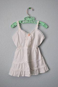 vintage toddler girl white slip