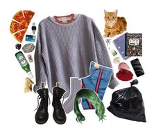"""""""what a week"""" by silence-d ❤ liked on Polyvore featuring American Apparel, Gucci, HUE, Dr. Martens, Casio, Samsung, Topshop and iCanvas"""