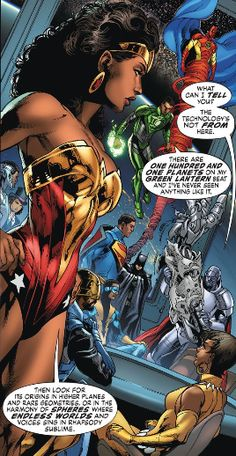 The different Earths in DC's Multiverse feature twists on the stories and heroes we're used to. For example, on (right), Superman is president, and major heroes like Wonder Woman and Green Lantern are black. Batman, Spiderman, Superman Art, Comic Books Art, Comic Art, Zack Snyder Justice League, Black Comics, Hq Marvel, Arte Dc Comics