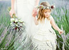 Sweet little flower Girl | via KT Merry