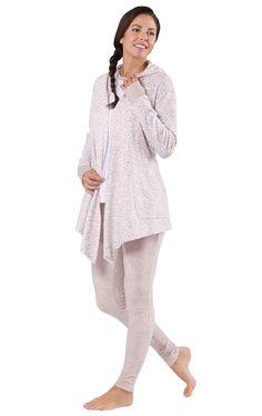 Comfy Cozy 3 Piece Cardigan Lounge Set - Leopard | Loungewear | Featured | Women | Pajamagram