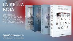 Conocerás el final de la saga en 2018… Ahora, no te quedes atrás. Completa tu serie. #TormentadeGuerra #WarStorm #LaJauladelRey #KingsCage #LaReinaRoja #RedQueen #LaEspadadeCristal #GlassSword #CoronaCruel #CruelCrown #LibertadParaMare #LaGuardiaEscarlata #ScarletGuard #LibreroenGuardiaEscarlata #VictoriaAveyard #literaturajuvenil #libros #YA #GTravesia #librerias #bibliotecas #books #bookshops