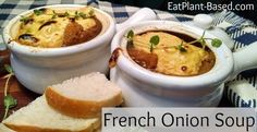 French onion soup is a classic and gets its flavor from deeply caramelized onions. This vegan version has every bit of the flavor, with only a fraction of the fat. Topped with sourdough bread and vegan mozzarella, I think you are going to be amazed by its incredibly warm texture and taste.