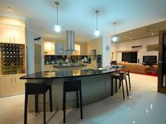Modern Curved Kitchen Island de cozinhas modernas | kitchens, modern kitchen designs and design
