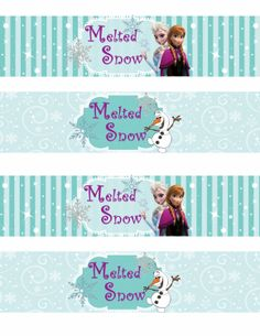 Free Printable Frozen Labels. - Is it for PARTIES? Is it FREE? Is it CUTE? Has QUALITY? It´s HERE! Oh My Fiesta!