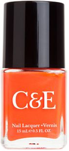 CRABTREE & EVELYN Nail Lacquer in Clementine 1 www.teelieturner.com This Clementine nail lacquer is a beautiful creamy orange with subtle shimmer. This fast-drying polish glides on smooth for gorgeous, glossy color. $8.00 #fashion