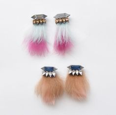 Fur winter pierce studs 【2016AW 50%OFF SALE】 - ajew