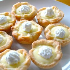a buttery, French pastry tart shell and bright and citrusy filling, these mini lemon tarts will convert anyone into a lemon dessert lover. Lemon Dessert Recipes, Lemon Recipes, Pastry Recipes, Tart Recipes, Sweet Recipes, Egg Yolk Recipes, Cheesecake Recipes, Mini Desserts, French Desserts