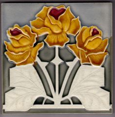 Jugendstil Fliese Kachel Art Nouveau Tile NStG