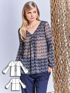 Wear this lovely sheer tunic blouse to the office and then to after-work…