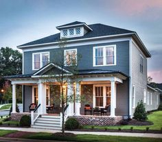 Timeless style in a new home built by JMC Homes of SC. The Mt Pleasant - Village Homes plan. The Patrick Square community. Clemson, SC.