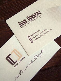 A'n'A Studio's business cards