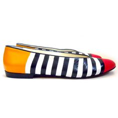 '80s Anne Klein Colorblock Flats, $78, now featured on Fab.