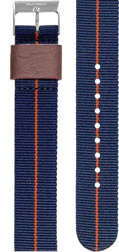 Azur: steel NATO strap
