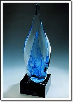 Fine Art Glass Designs, Crystal Art, Crystal Gifts, Employee Recognition, Corporate Awards, Crystal Awards, Recognition Awards, Parris-Roche Studios - www.ArtGlassPlane...