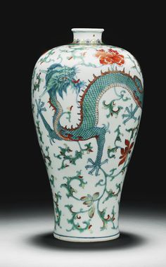 doucai 'dragon & phoenix' Meiping Vase, Qing Dynasty, 18th c