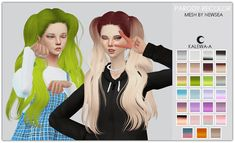 Parody hair recolor at Kalewa-a via Sims 4 Updates