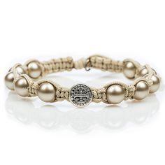 My Saint My Hero Divine Blessings Pearl Bracelet (Platinum Pearl)