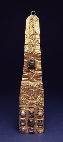 Ancient Greek Jewelry: Head Ornament - 6th century (Late Antique) - Gold and Semi Precious Stones