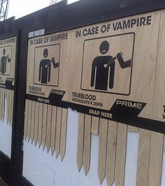 Even though I don't like the whole vampire trend, this is such a great marketing device.