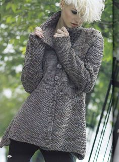 MADE TO ORDER warm winter women knitted top / cardigan / jacket