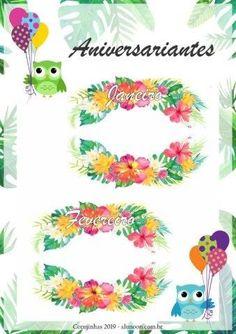 Planner Corujinhas tropicais 2019 - Educação Infantil - Aluno On Planner, Clip Art, Scrapbook, Blog, Crafts, Agenda Printable, School Calendar, Decorated Notebooks, Index Cards