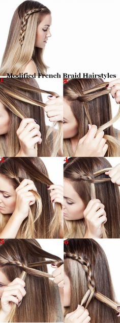 Modified French Braid Hairstyles