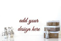 christmas styled photo frame display christmas by Artistro on Etsy