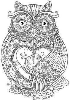 mandala coloring pages 80 | mandala coloring pages | pinterest ... - Animal Mandala Coloring Pages Owl