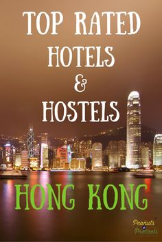 Top rated Hostels & Hotels in Hong Kong are plenty. The vibrant and international city of Hong Kong is a prime destination for travelers who are seeking a taste of Asia, but with the amenities of a world-class city.  Accommodation options can be overwhelming in Hong Kong, and the customer reviews can vary widely.  So we've put together this list of hotels and hostels that are the top rated Hotel and Hostels in Hong Kong by customers. | Peanuts or Pretzels Travel #HongKong #Hotels #Hostels…