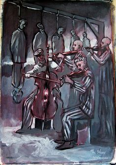 holocaust orchestra ~ painting by Soren