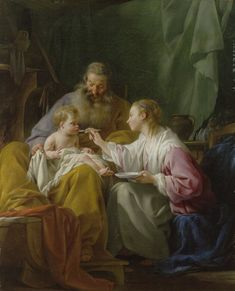 """Catholic teachers would teach the children in grade school, and all the way up to University, to put at the top of their paper """"JMJ"""" (Jesus, Mary and Joseph) or """"AMDG"""" (in Latin = Ad Maiorem Dei Gloriam, To the greater glory of God). Catholic Art, Catholic Saints, Religious Art, Jesus Christ Painting, Jesus Art, Christian Images, Christian Art, Jesus Prayer, Religious Pictures"""